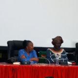 Aminata Dramane Traoré et Christiane Taubira au colloque du Fespaco